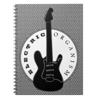 Electric Organism Guitar Rock Music Cool Dots Notebook
