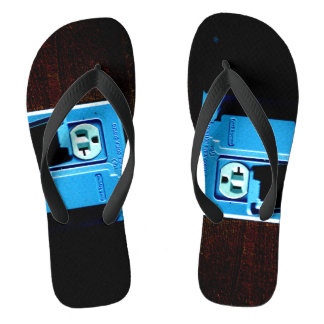Electric Outlet Photograph On Flip flops