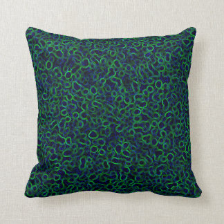 Electric Palette Throw Pillow