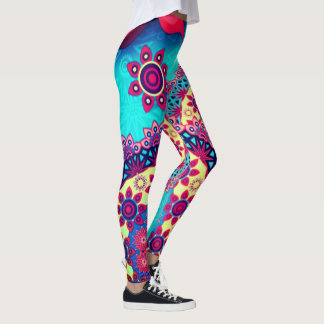 electric pasiley womens leggings