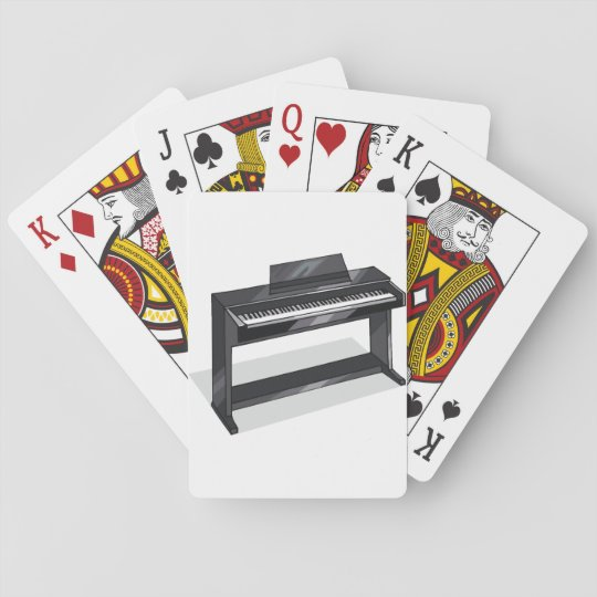 Electric Piano Playing Cards