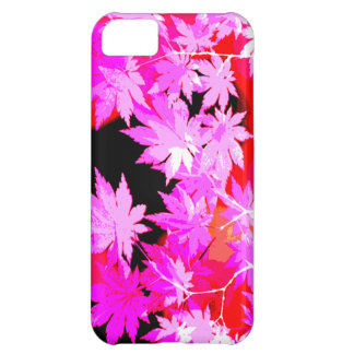 Electric pink Japanese maple (rasterized) iPhone 5C Case