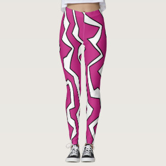 Electric Pink Polynoise Leggings