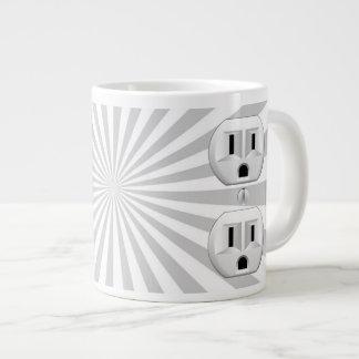 Electric Plug Wall Outlet Fun Customize This! Giant Coffee Mug