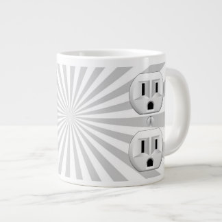 Electric Plug Wall Outlet Fun Customize This! Jumbo Mug