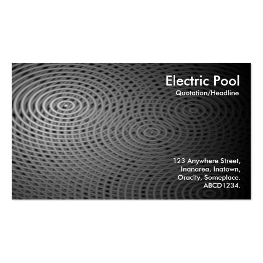 Electric Pool 010 Business Card
