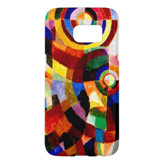 Electric Prisms - Abstract Vintage Art by Delaunay Samsung Galaxy S7 Case