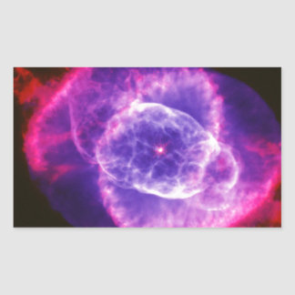 Electric Purple Cat's Eye Nebula Ngc 6543 Space Sticker