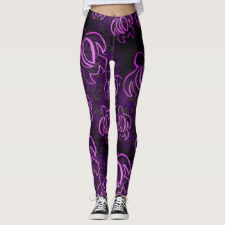 Electric Purple Honu Leggings