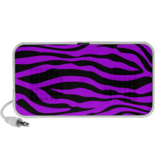 Electric Purple Zebra Stripes Animal Print Speaker System