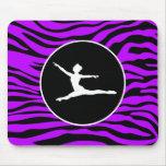 Electric Purple Zebra Stripes; Ballet Mousepads