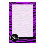 Electric Purple Zebra Stripes; Ballet Personalized Stationery