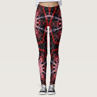 Electric Red Geometric Leggings