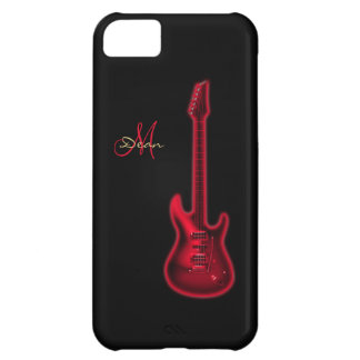 Electric Red Guitar Personalized iPhone 5 Case
