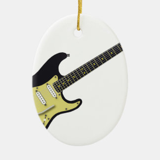 Electric Rock Ceramic Oval Ornament