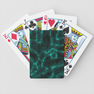 Electric Shock in Blue Green Bicycle Playing Cards
