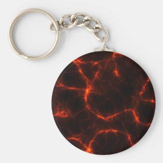 Electric Shock in Crimson Basic Round Button Keychain