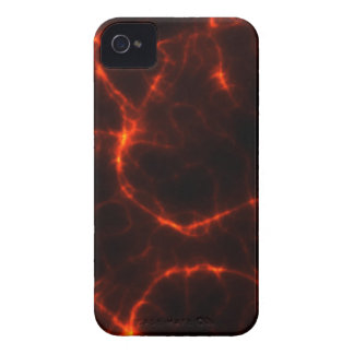 Electric Shock in Crimson iPhone 4 Cover