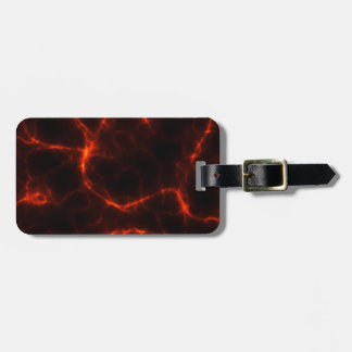 Electric Shock in Crimson Luggage Tag