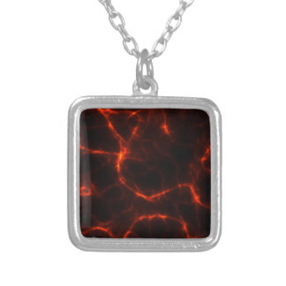 Electric Shock in Crimson Silver Plated Necklace