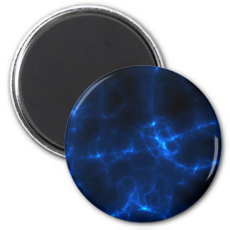 Electric Shock in Dark Blue 2 Inch Round Magnet