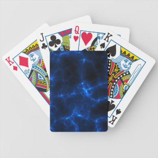Electric Shock in Dark Blue Bicycle Playing Cards