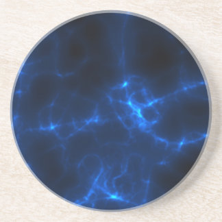 Electric Shock in Dark Blue Coaster