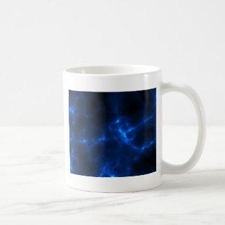 Electric Shock in Dark Blue Coffee Mug