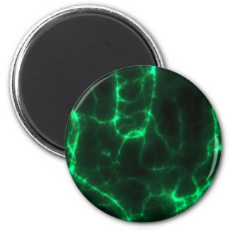 Electric Shock in Dark Green 2 Inch Round Magnet