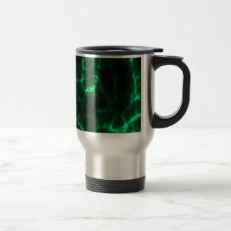 Electric Shock in Dark Green Travel Mug