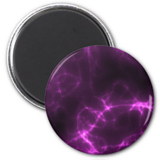 Electric Shock in Magenta 2 Inch Round Magnet