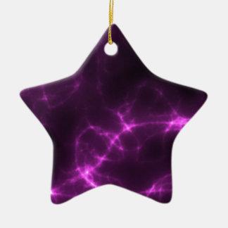 Electric Shock in Magenta Ceramic Star Ornament
