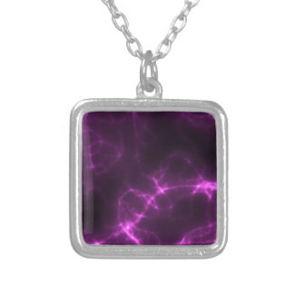 Electric Shock in Magenta Silver Plated Necklace