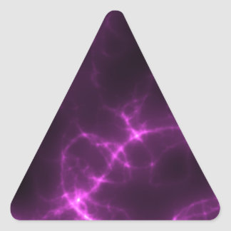 Electric Shock in Magenta Triangle Sticker
