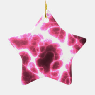 Electric Shock in Pink Ceramic Star Ornament