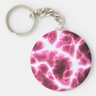 Electric Shock in Pink Keychain