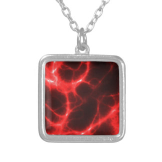 Electric Shock in Red Silver Plated Necklace