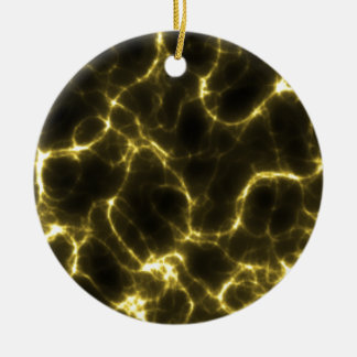 Electric Shock in Yellow Ceramic Ornament