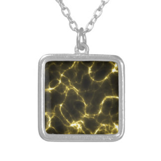 Electric Shock in Yellow Silver Plated Necklace