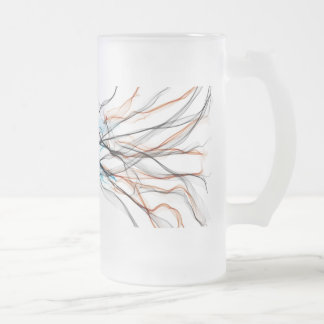 Electric Smoke Frosted Glass Beer Mug