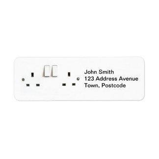 Electric socket from the UK Return Address Label