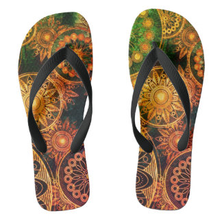 electric steampunk unisex flip flops