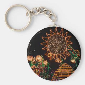 Electric Sunflower - keychain