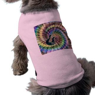 Electric Tie-Dye Guitar Doggie Tee Shirt