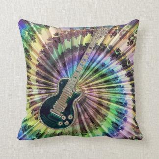 Electric Tie-Dye Guitar Pillow