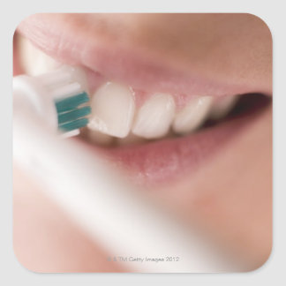Electric toothbrush. These devices have a motor Square Sticker