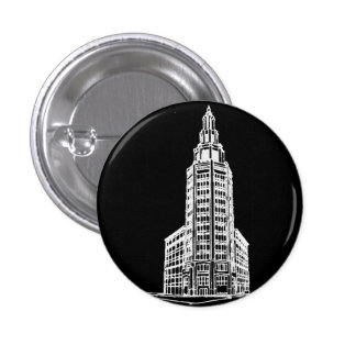 Electric Tower in Black 1 Inch Round Button