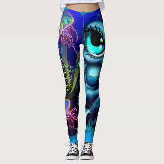 Electric Tuna Girl Leggings