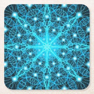 Electric Universe Mandala Square Paper Coaster