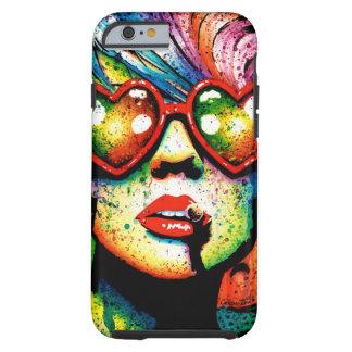 Electric Wasteland Heart Shaped Sunglasses Pop Art Tough iPhone 6 Case
